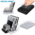 VOXLINK 8 Ports Desktop USB Multi Charging Station Dock with Stand For Mobile phone tablet PC White