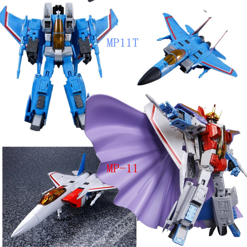 New battleplane Transformation robot MP11 Starscream MP11T Thundercracker Action Figure Masterpiece KO model toy [show z store] fanstoys ft 06x sever iron dibots no 3 g1 masterpiece limited edition mp transformation action figure instock