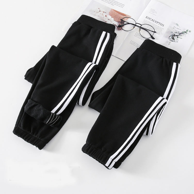 Family Matching Clothes Pants Mother and Daughter Trousers 2019 new spring autumn Elastic Sweatpants Pants father son outfits 5