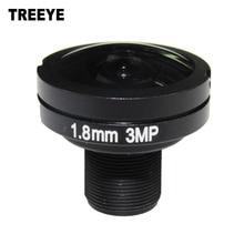 """1/3. 6 """"hd 3.0 megapixel 3mp 1.8mm ir cctv olho de peixe câmera módulo lente m12 montagem abertura f2.8 185d amplo ângulo de visão"""