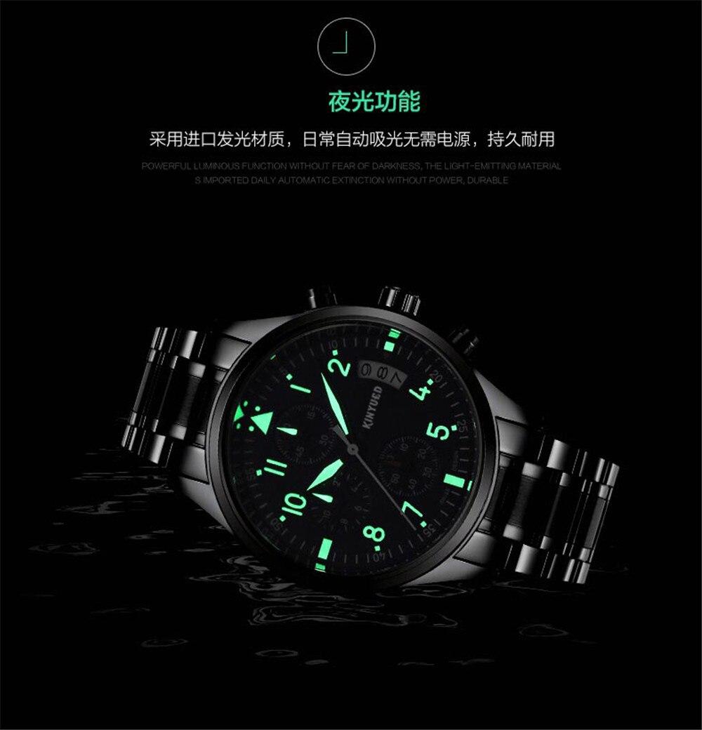 Marca de lujo KINYUED Relojes para hombres, Multifuncional Movimiento - Relojes para hombres - foto 5