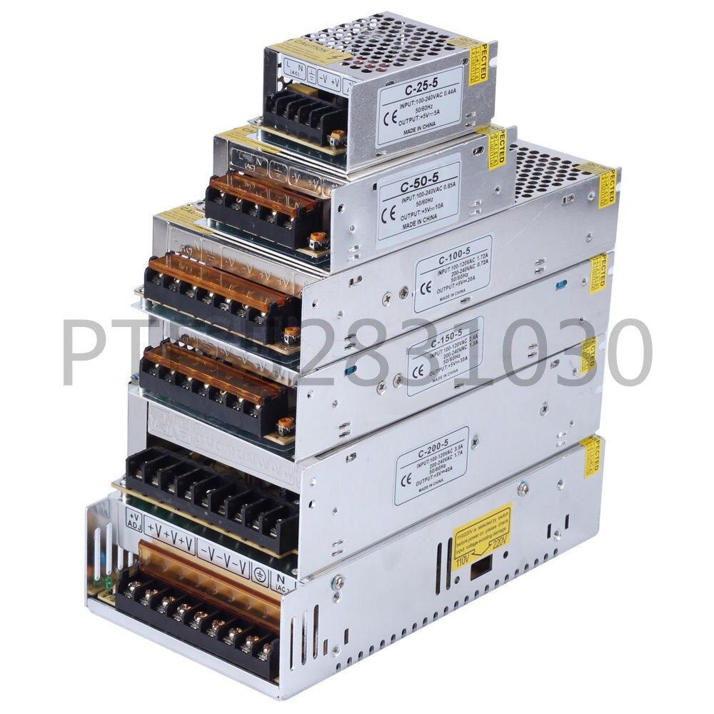 Купить с кэшбэком LED Transformer Power Supply Switch Adapter AC 110V-220V TO DC5V 12V 24V 2A 3A 5A 10A 20A 30A 40A 60A Driver For Led Strip Light