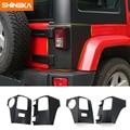 SHINEKA Auto Rücklicht Rücklicht Lampe Schutz ABS Abdeckung Trim Protector für Jeep Wrangler 2007 2016 Auto Zubehör|Autoaufkleber|   -