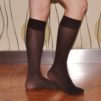 Mens Spring and Autumn thin socks gay section stocking knee socks breathable Sexy socks transparent 4 color gentleman socks men