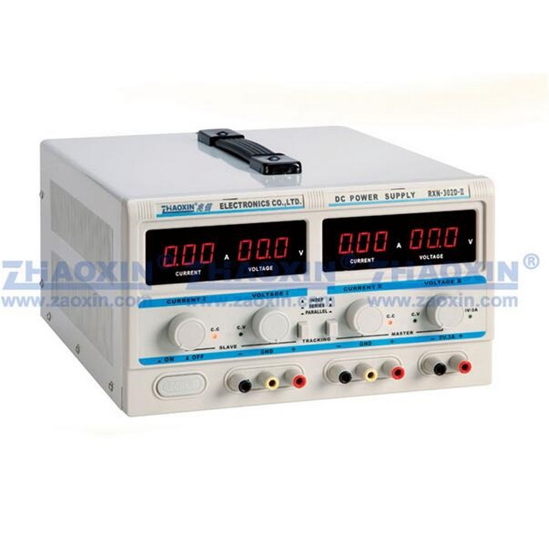 Dual Output Linear Power Supply 0-30V2A Adjustable Regulated DC Power Supply RXN-302D-II 0.1V 0.01A Fixed Output 5V3A rxn 305d ii 0 30v 0 5a two circuit output cocurrent voltage stabilized source fixed output 5v 3a adjustable dc power supply
