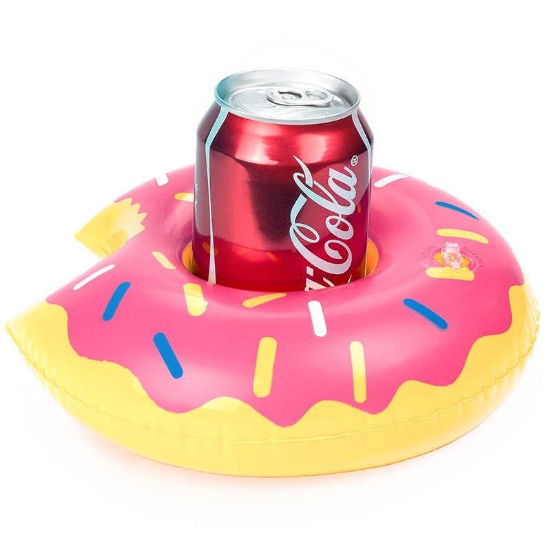 Donuts Inflatable Cup Holder Triangle Inflatable Cup Holder Pvc Inflatable Water Coaster