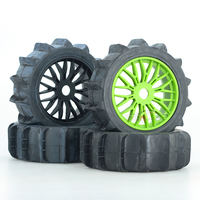 1Set 1/8 Off Road Tires D125mm Desert Tire 125*42mm Sand Snow Wheel Tire in 17mm Hex Adapter for 1:8 RC Climbing Cars Spare Part