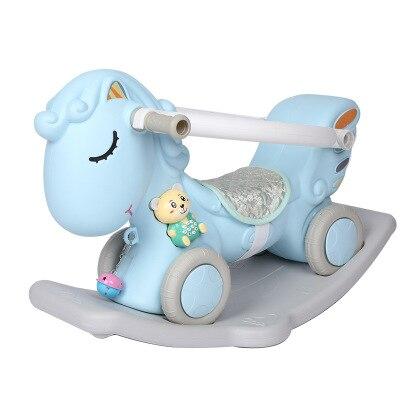Cheval à bascule multifonctionnel cheval de troie enfants en plastique berçant un an bébé jouet 0-2 anniversaire naissance