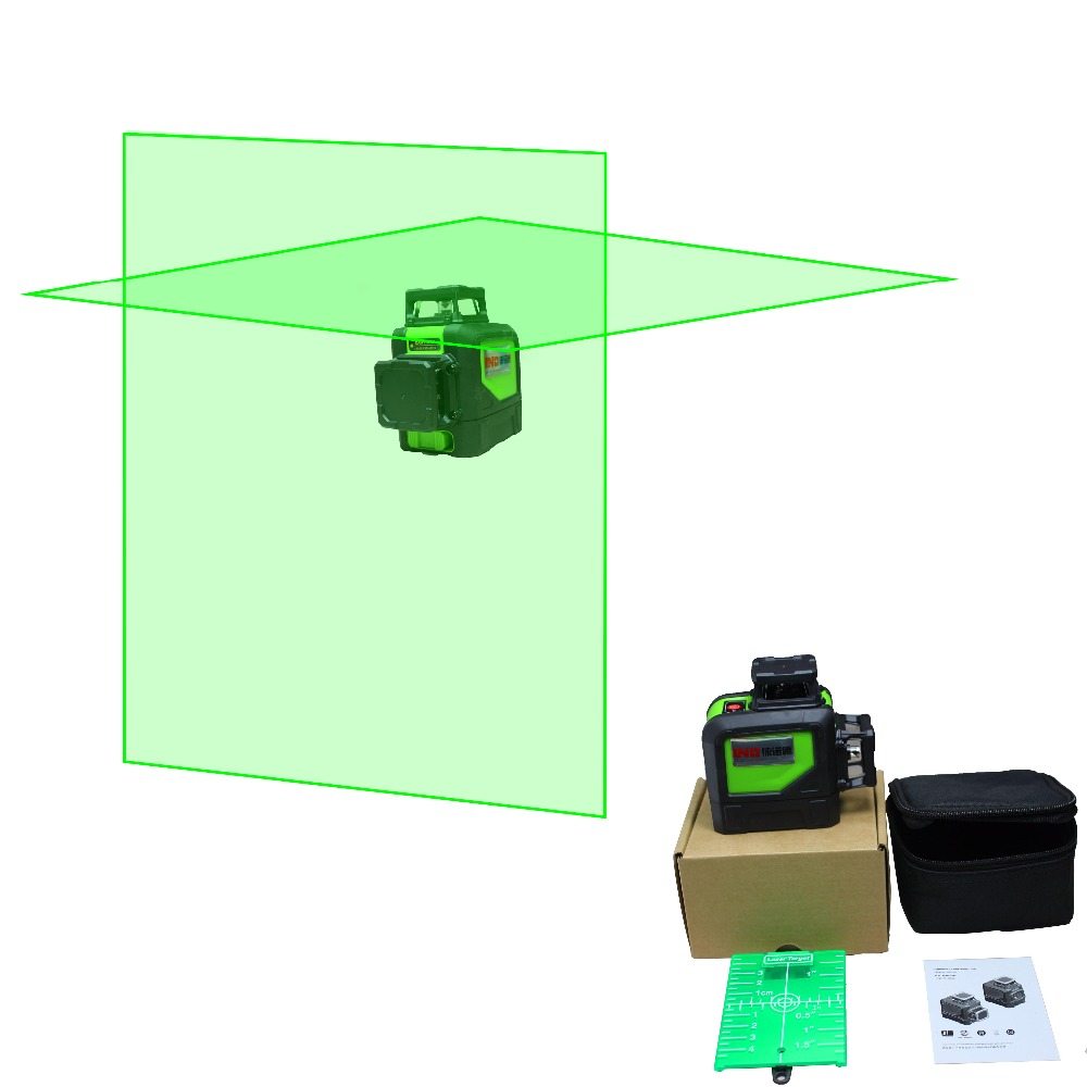LND   Laser Level 360 Vertical And Horizontal Self-leveling Cross Line Green  Beam free shipping highly visible line laser kapro 810 with vertical and horizontal vials