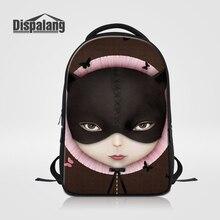 Dispalang большой Ёмкость женщин ноутбук рюкзаки для девочек-подростков персонализированные Дизайн мультфильм женский рюкзак Mochilas rugtas