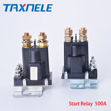 Dual Battery Start relay 4 Pin Large Current 500A 12V 24VDC Car Power Switch,Starting Relay,Auto Start Contactor,Heavy current(China)