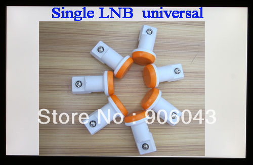 Free shipping super hd single lnb, universal LNB , 0.1db lowest Noise Figure LNB ku band,durable lnb universal single lnbf