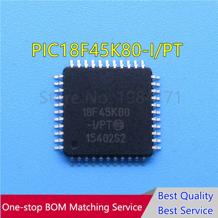 20Pcs PIC18F45K80 I/PT PIC18F45K80 QFP44   new-in Integrated Circuits from Electronic Components & Supplies    1