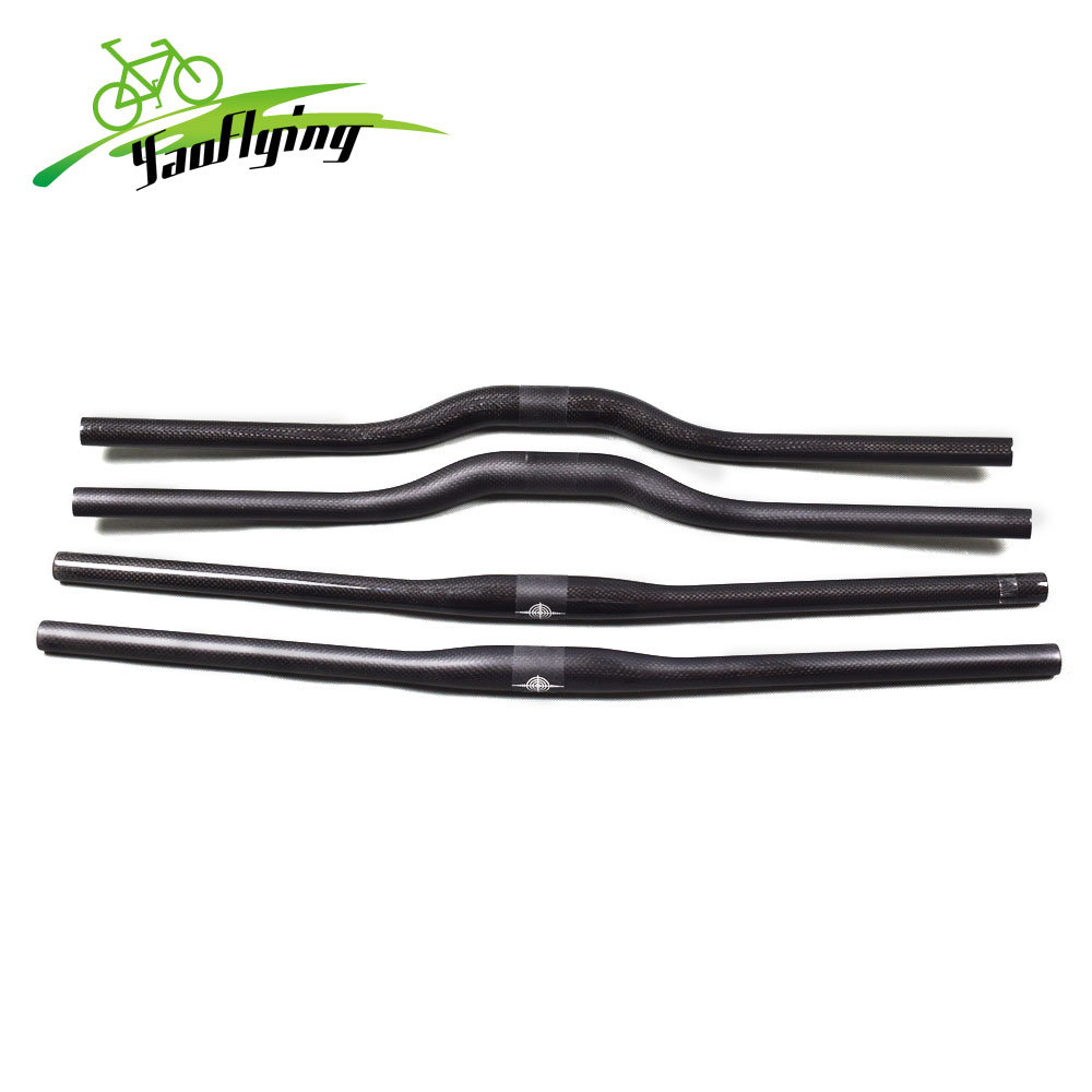 TOSEEK Full Carbon 25.4*380-700mm 3K MTB XC AM Road Kids Bike Flat Bar Handlebar
