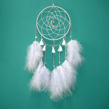 4 Colors Dream Catcher Make Of Fluffy Feathers Traditional Indian Style Dreamcatcher Wall Hanging Decoration Craft Dream Catcher(China)