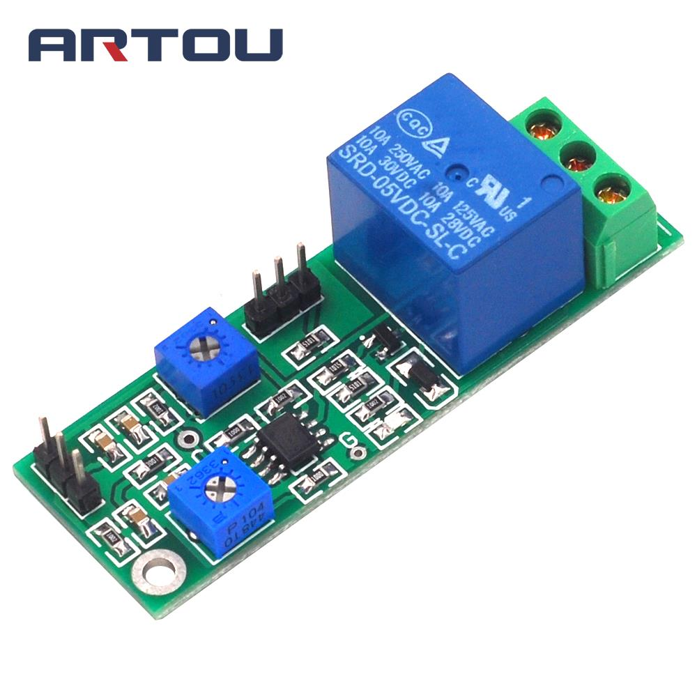 5V 12V Hysteresis Voltage Comparator Module Threshold Adjustable High Level And Switch Dual Output Jitter Comparator Board