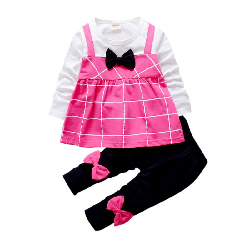 c1465f9bf №2 PCS Autumn Winter Outfits Toddler Kids Baby Girls Clothes T-shirt ...
