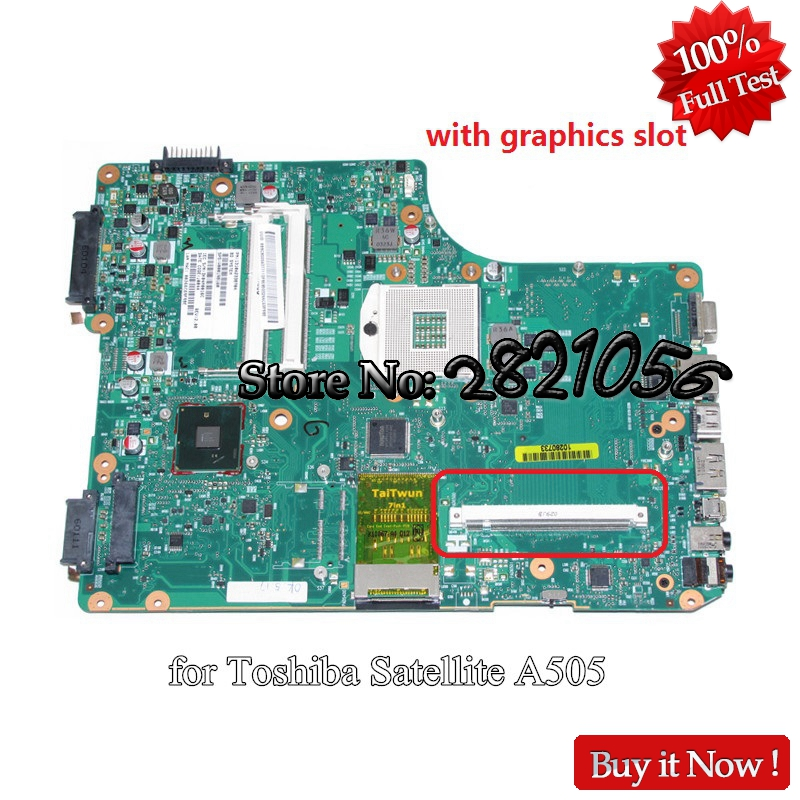 NOKOTION Laptop Motherboard For Toshiba Satellite A500 A505 1310A2338704 V000198160 Main Board HM55 DDR3 with Graphics Slot nokotion mb k000104390 main board for toshiba satellite a660 a665 laptop motherboard la 6062p rev 2 0 hm55 gt330m ddr3