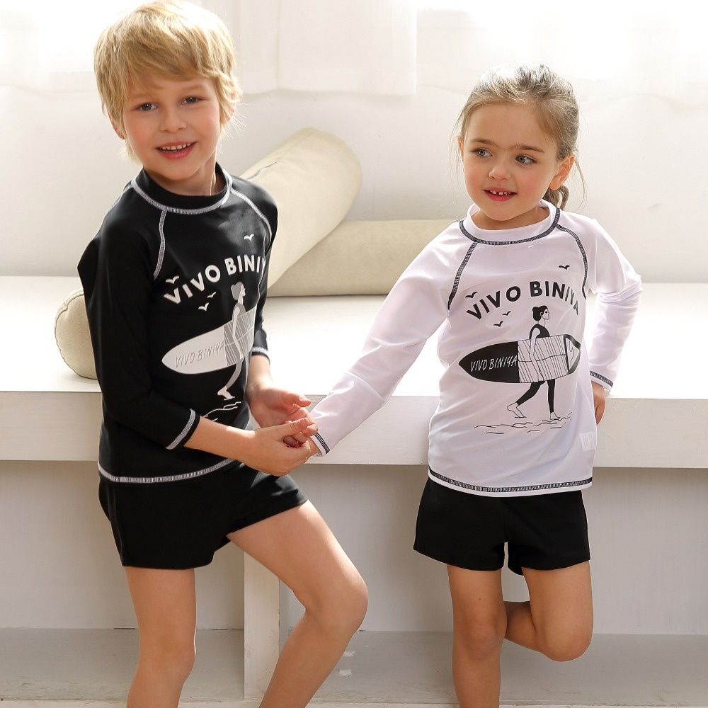 Toddler Baby Girls Long Sleeve Two Piece Bathing Suit for Kids 2Pcs Rash Guard Swimsuit Set with UPF 50 Sun Protection