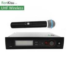 Najlepszy System Mikrofon Bezprzewodowy UHF Bezprzewodowy System Mikrofonowy, Sprzęt Karaoke Domu Imprezę Na Świeżym Powietrzu, wysokiej jakości dźwięk głosu
