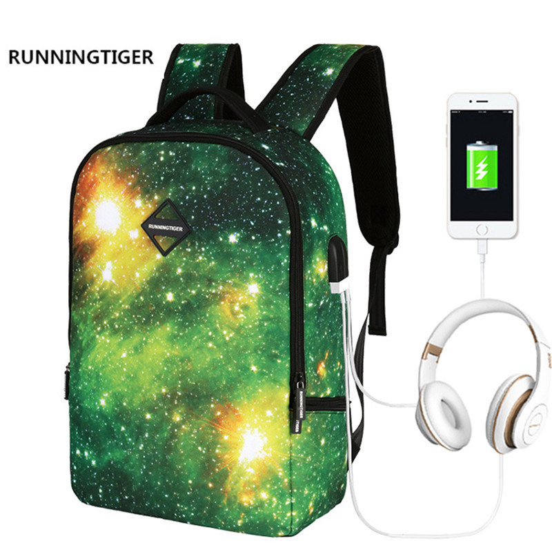 Для мужчин рюкзак многофункциональный зарядка через USB 16 дюймов Для женщин ноутбука Рюкзаки для подростков Водонепроницаемый Anti-Theft студен...