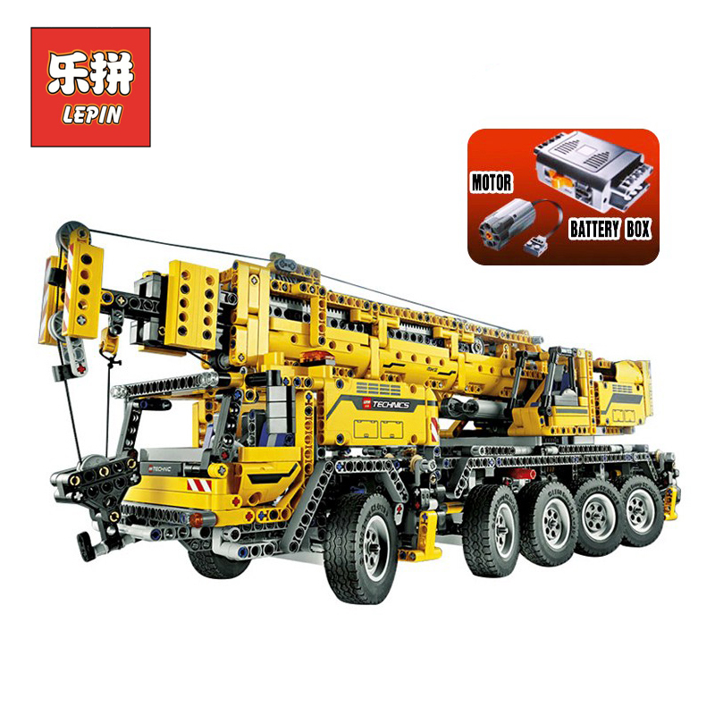 2606 cs Lepin 20004 Technic series Motor power mobile crane MK Model Building blocks Bricks LegoINGlys 42009 Birthday gifts тарелка хай хэт zultan 13 hi hat cs series