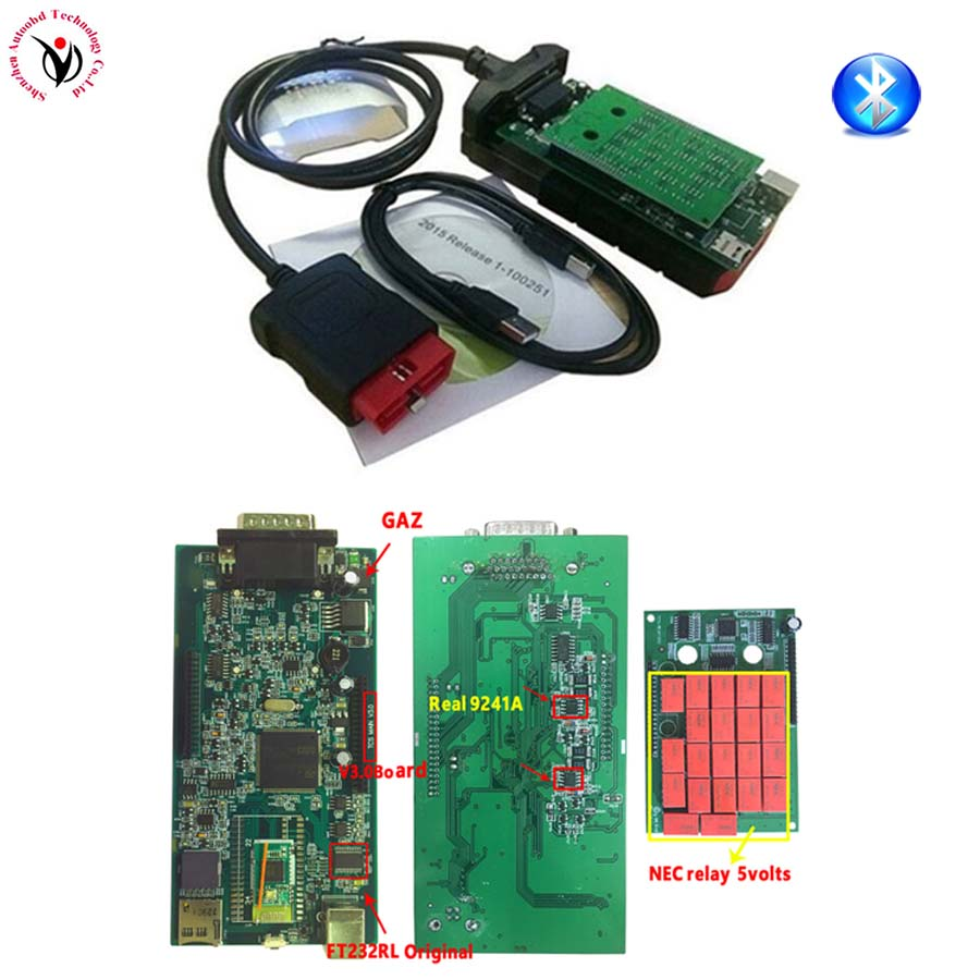 Vci v3.0 PCB. R3 Keygen/. R0+ активировать Bluetooth TCS CDP pro obd2 OBDII OBD II Автосканер автомобилей/грузовиков - Цвет: original V3.0 BT