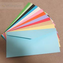 """50 шт. 22x11 см (8,6 """"x 4,3"""") цвет бумага конверт для приглашения на свадьбу конверты карты организатор"""