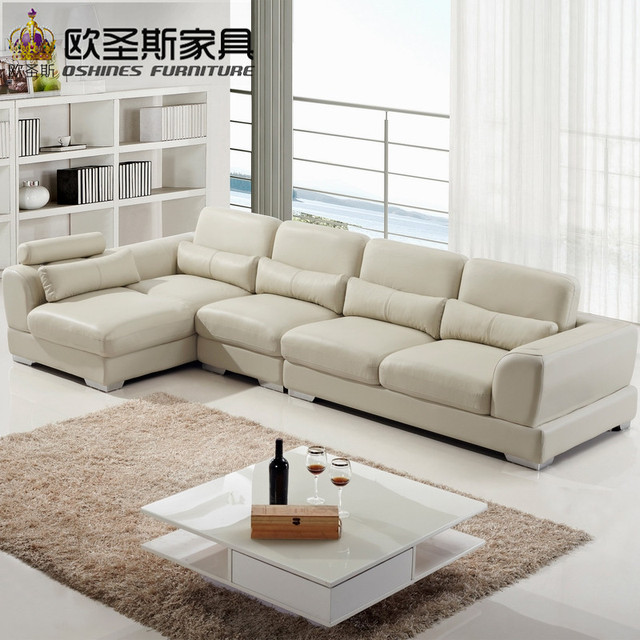 Imported Leather Sofa Living Room Furniture Modern Sectional Genuine Ocs