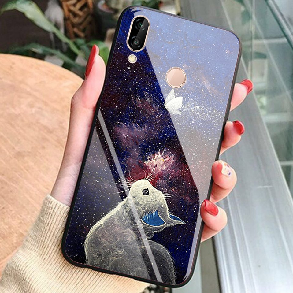 Glass Case For Huwei P20 Lite Nove 3 2i Silicone Anime Case For Huawei Honor Play 9 7A Mate 10 20 Lite P20 Pro P Smart Y6 2018   (15)