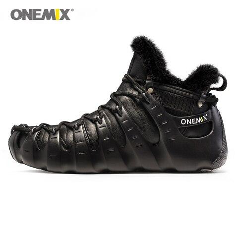 ONEMIX Winter Outdoor Walking Shoes for Men Mountain Boots Warm-full Women Climbing Shoes Men Sport Sneakers in Black Shoes Pakistan
