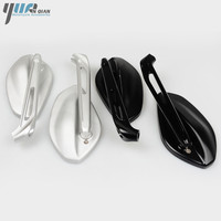 Silver Black CNC Aluminum Motorbike Accessories Parts Rearview Motorcycle Mirror Moto Side Mirror Motorcycle Mirrors For Ducati
