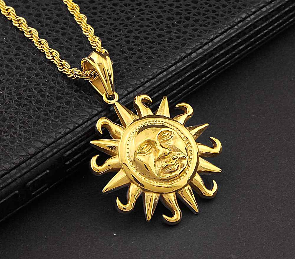 in adjustable silver talisman jewelry pendant necklaces sun necklace minimal fashion round item wicca golden teamer from color