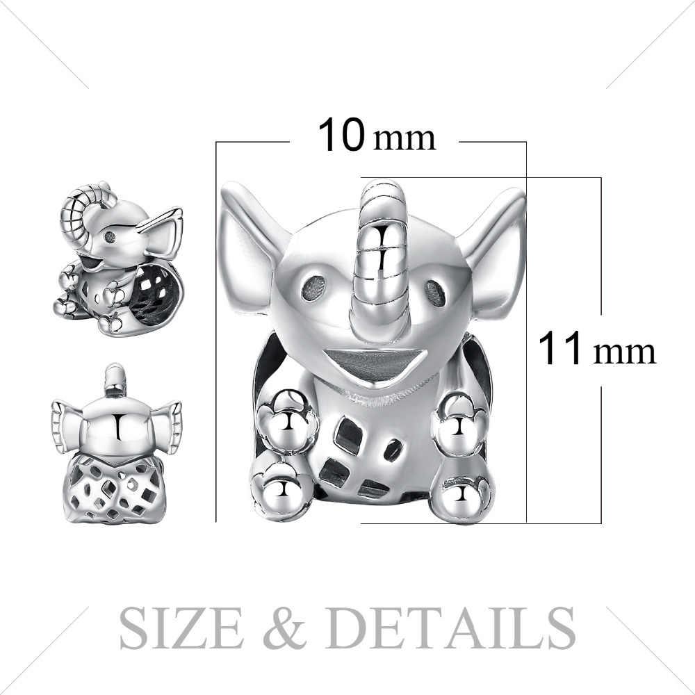 Jewelrypalace Tai Voi Bạc 925 Hạt Charm Bạc 925 Nguyên Bản Cho Vòng Tay Bạc 925 Nguyên Bản Cho Trang Sức Làm
