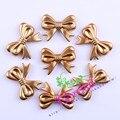 Las más! 46x36mm 60 unids/lote Acrílico Mate Chapado En Oro Arco de Perlas Para La Joyería de Moda Chunky Joyería