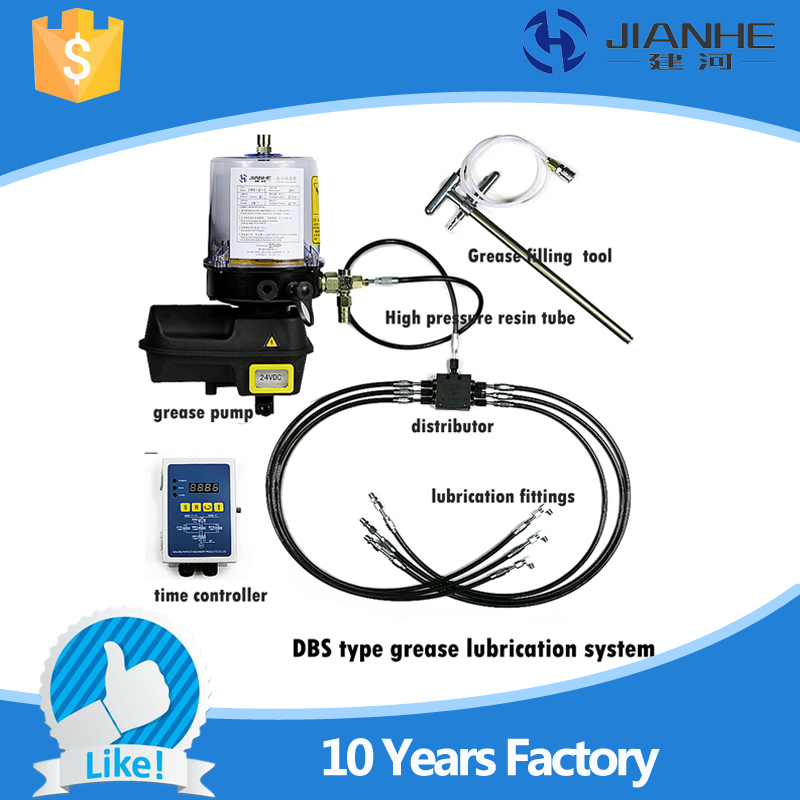 Full set central lubrication system with 6 Lubrication point DBS type Grease Lubrication Pump For CNC Machine full set 1 5l fully automatic lubrication pump 220v single screen oil lubrication pump for cnc router