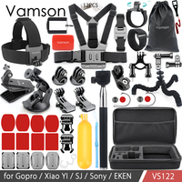 Vamson Accessories for GoPro Hero 6 5 4 3+ Kit Floating Bobber Hand Collection Box Bag Head Strap for Xiaomi Yi for SJ4000 VS122