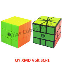 Qiyi Mofangge X-man design Volt SQ-1 Black/Stickerless Square One SQ1 Cubo Magico Puzzle Educational Toys Gifts Drop Shipping(China)