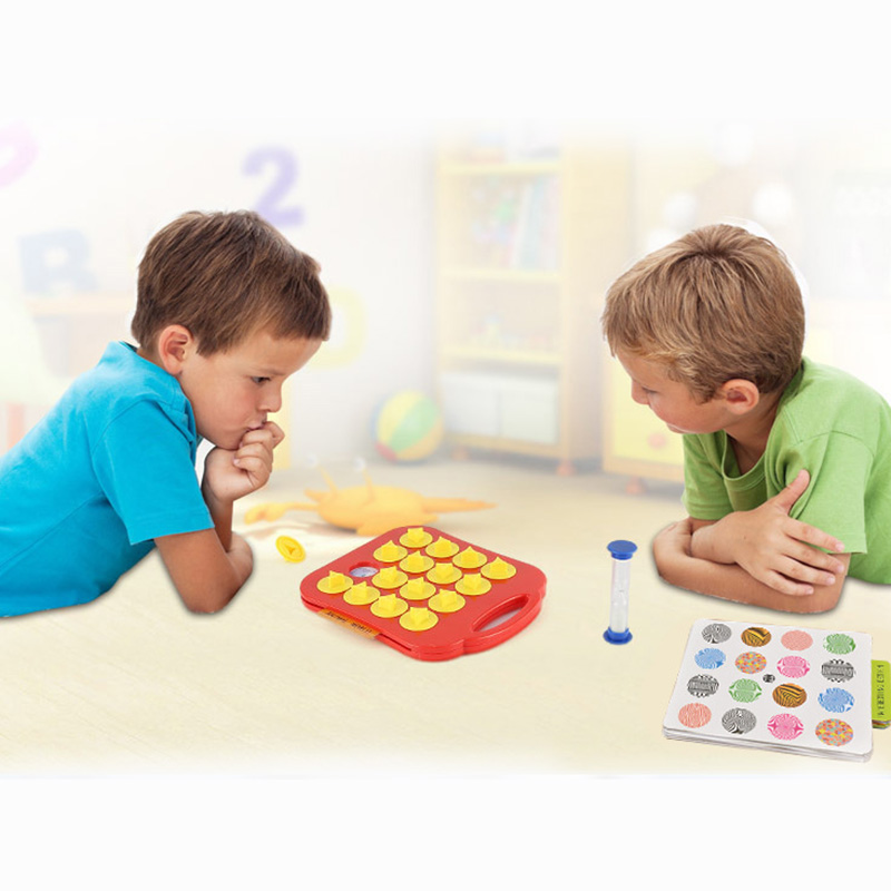 Pair Puzzle Board Game Concentration Endurance Training Games High Quality ABS Plastic Education Game For Kids