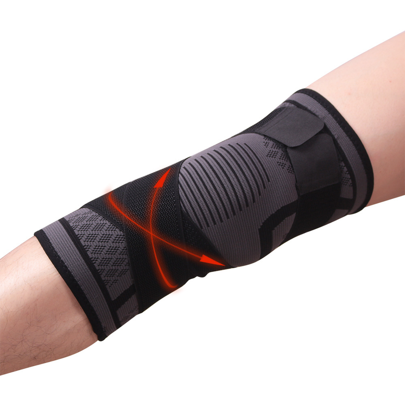 2019 New Compression Belt Knit Sports Knee Pads Badminton Running Fitness Outdoor Climbing  Protector
