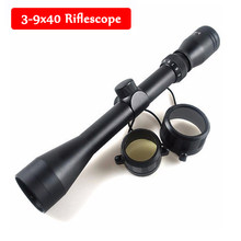 Militer Optik Sight Lingkup Taktis 3-9x40 Pandangan Airsoft Olahraga Peralatan Berburu Riflescope dengan 11 Mm/20 Mm Rail Mount(China)