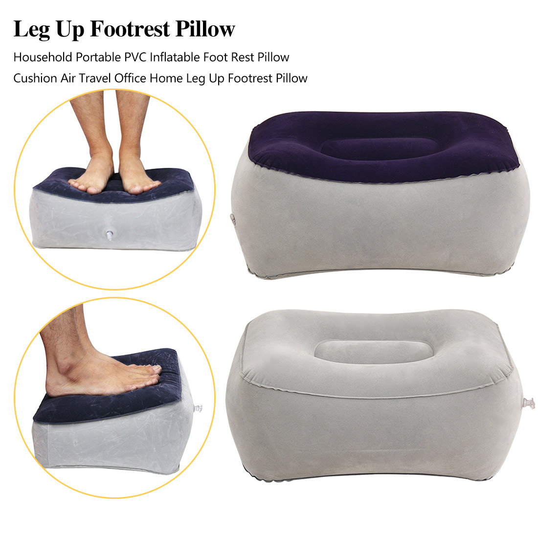 Travel Pillow Footstool For Airplane Kids Sleeping Large