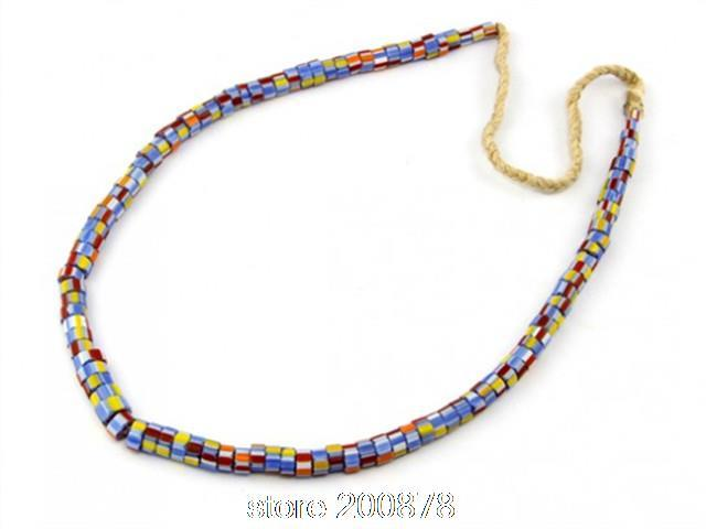 TNL161 Tibetan Ethnic Fashion Necklace Nepal Antiqued Colorful Glass Lampwork Beaded Necklace 2015 Spring New Arrival