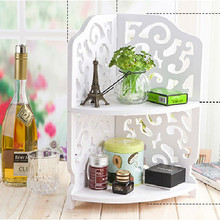 Chinese Style Corner Bookcase/ Wooden Storage box/ make up storage/ cosmetic storage/ desktop storage box