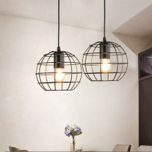 Industrial Vintage Cage Pendant Light Fixtures Iron Kitchen Dining Room Bar Deco Loft Hanging Light Pendant Lamp Metal E27 Black e27 pendant light hanging lamp iron bird cage modern light for home garden coffee room decoration