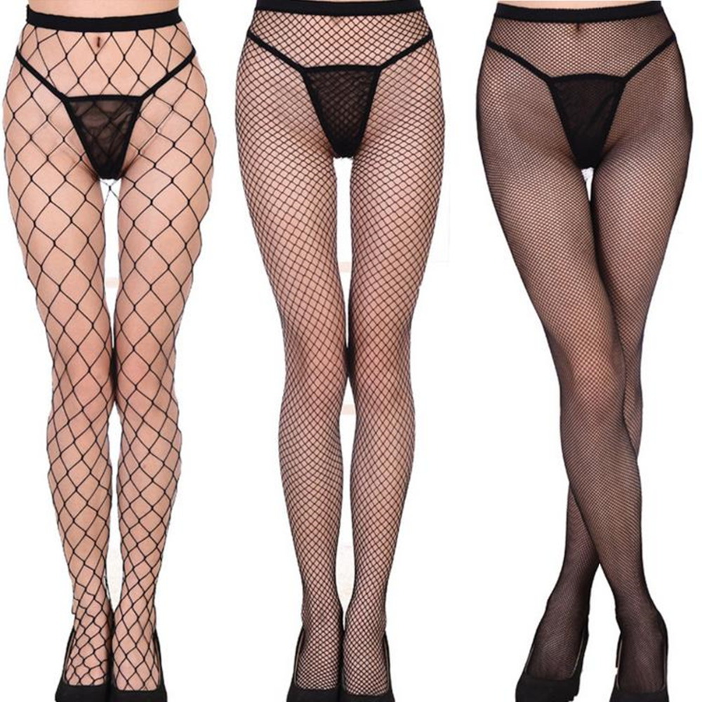 Hollow out sexy pantyhose female Mesh black women tights stocking slim fishnet stockings club party hosiery 2017