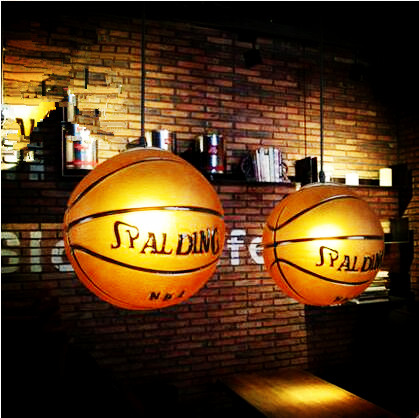 Basketball Shape American Country LED Vintage Pendant Light Fixtures Dinning Room Hanging Lamp Lights Lamparas Lampen