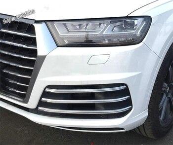 Pour Audi Q7 s-line Sport 2016 2017 2018 ABS avant antibrouillard lumière de brouillard lampe Grille décoration couvercle garniture 6 pièce
