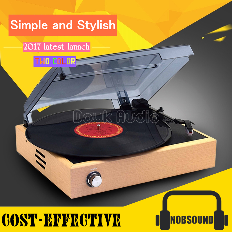 цены Douk Audio 3-Speed Home Turntables LP Vinyl Modern Recorder Retro Phono Player Built-in Stereo Speakers
