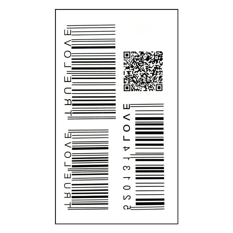 Waterproof Temporary Tattoo Sticker On Body Art QR Code Bar Code Water Transfer Flash Tattoo Fake Tattoo Girl Boy Free Shipping